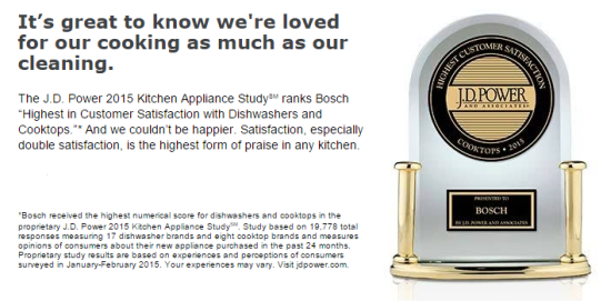 Bosch highest customer satisfaction
