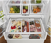 pic of refrigerator compartments
